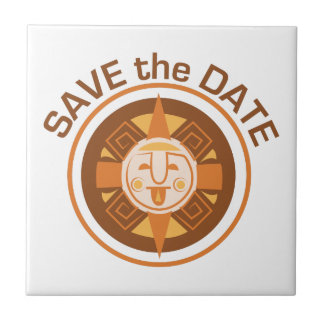 Save The Date Small Square Tile