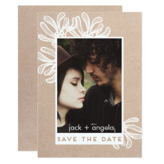 Save the Date Trendy and Modern Photo Craft Card