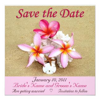 Save the Date - Tropical Beach Wedding Card