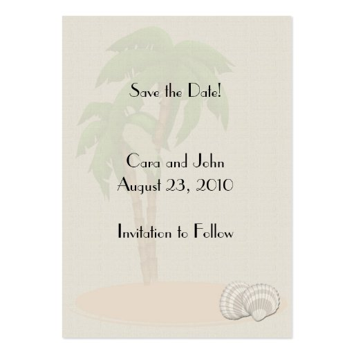 Save the Date Tropical Business Card Templates