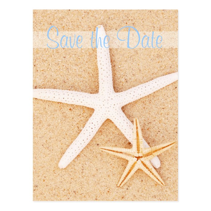 Save the Date Twin Starfish Postcard