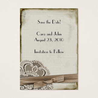 Save the Date Vintage Business Card