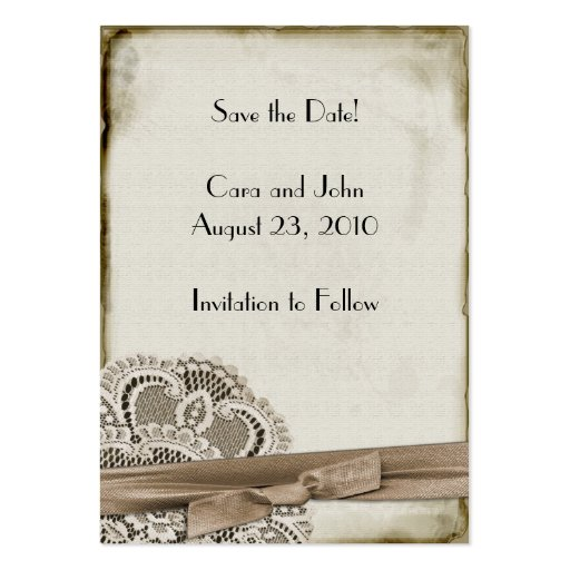 Save the Date Vintage Business Card Template