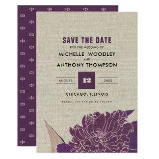 Save the Date Vintage Design Wedding Announcements