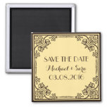 Save The Date Vintage Wedding Magnet
