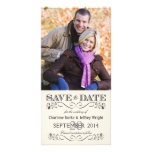 Save the Date Vintage White Wedding Photocards