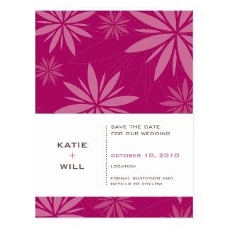 SAVE THE DATE :: vitality fuschia Postcard