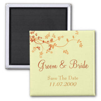 Save The Date - Warm Autumn Square Magnet