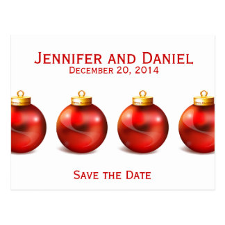 Save the Date Wedding Announcement Cards Balls
