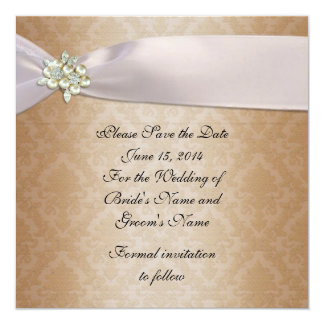 Save the date Wedding announcement damask elegant