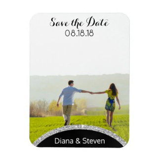 Save the Date Wedding Announcement | Modern Photo Magnet