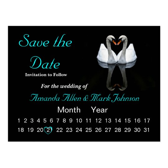 Save the Date, Wedding Announcement Postcard