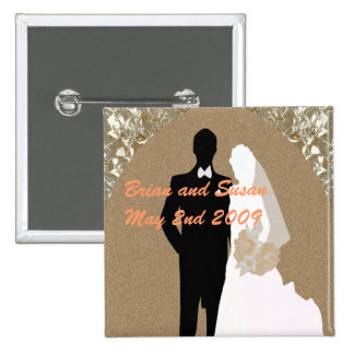 Save the Date Wedding Button Template