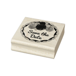 Save the Date Wedding Cake Love Rubber Stamp