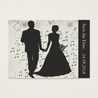 Save the Date, Wedding Couple Music Business Card