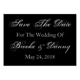 Save The Date Wedding Date Bride Groom Names Pack Of Chubby Business Cards