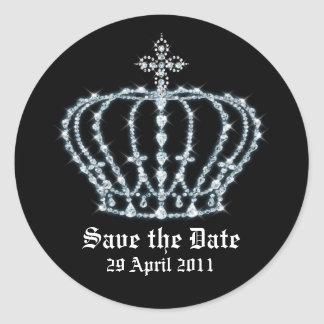Save the Date Wedding Envelope Seal Round Sticker