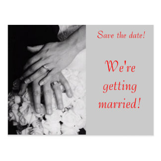 Save the Date--Wedding Hands Postcard
