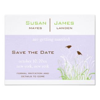 Save the Date - Wedding 11 Cm X 14 Cm Invitation Card