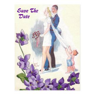 SAVE THE DATE WEDDING INVITATION POSTCARD