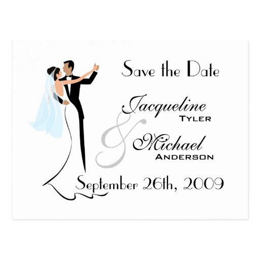 Save the Date Wedding Invitation Postcard