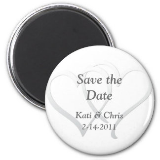 Save the date Wedding magnets two hearts