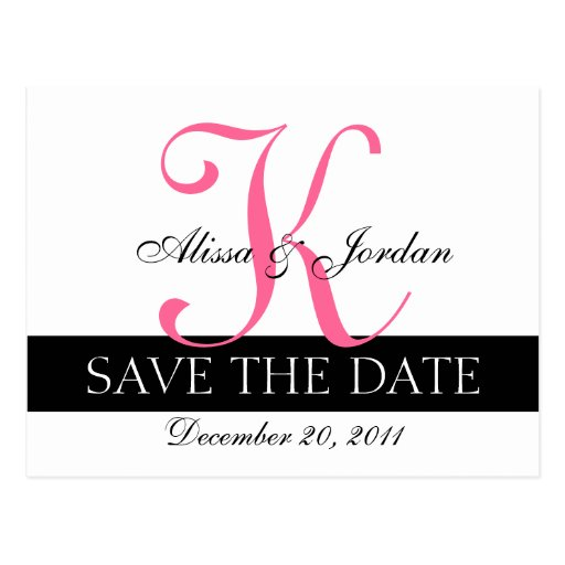 Save the Date Wedding Monogram Announcement Card Post Cards