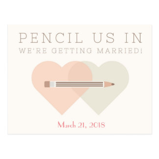 Save the Date Wedding Postcard