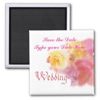 Save the date wedding reminder fridge magnet