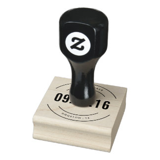 Save the Date Wedding Return Address Stamp