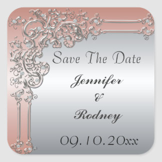 Save The Date Wedding Sticker