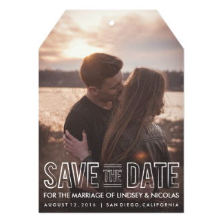 Save The Date Wedding Tag 13 Cm X 18 Cm Invitation Card