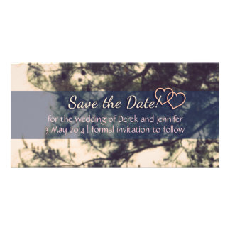 Save the Date Wedding - Vintage Tree and Branches Photo Card