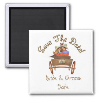 Save the Date WESTERN Wedding Magnets
