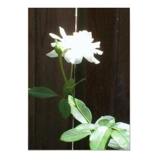 Save the Date White Rose 13 Cm X 18 Cm Invitation Card