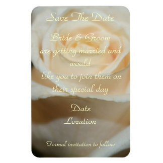 SAVE-THE-DATE WHITE ROSE MAGNET TEMPLATE
