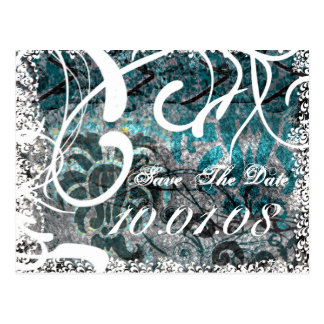 Save The Date - Winter/Fall  Wedding Postcard