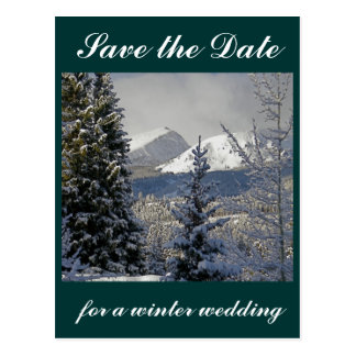 Save the Date Winter Wedding Postcard