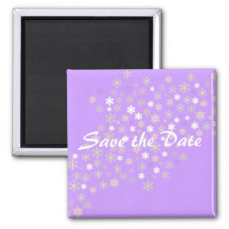 Save the Date/Winter Wedding Snowflakes Magnet