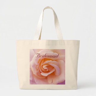 Save the date with Pink and Peach Garden Rose Tote Bags