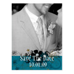 Save the Date with YOUR Photo DeepSea Blue Post Cards