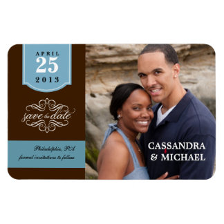 Save the Date - Your Photo Wedding Announcement Vinyl Magnet