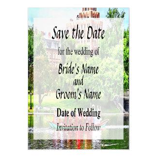 Save the DateBoston MA - Boston Public Garden Magnetic Invitations