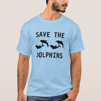 Save The Dolphins Mens Blue T-shirt