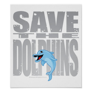 Save the Dolphins Print