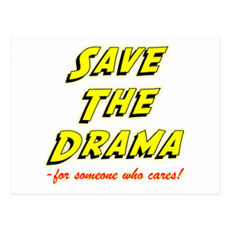 Save the Drama Breakup Card Postcard