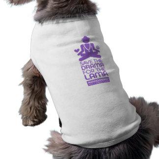 Save the Drama for the Lama - purple Doggie Shirt