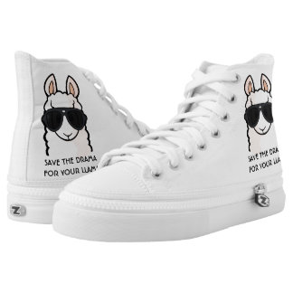 Save the Drama for Your Llama Printed Shoes