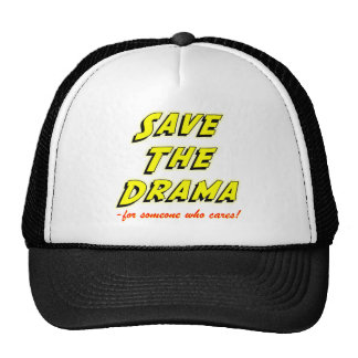 Save the Drama Snappy Saying Mesh Hats