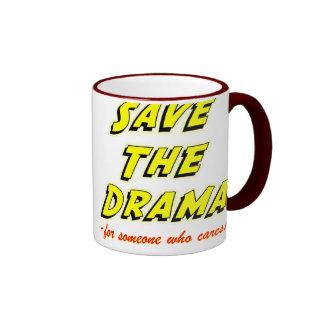 Save the Drama Snappy Saying Ringer Mug